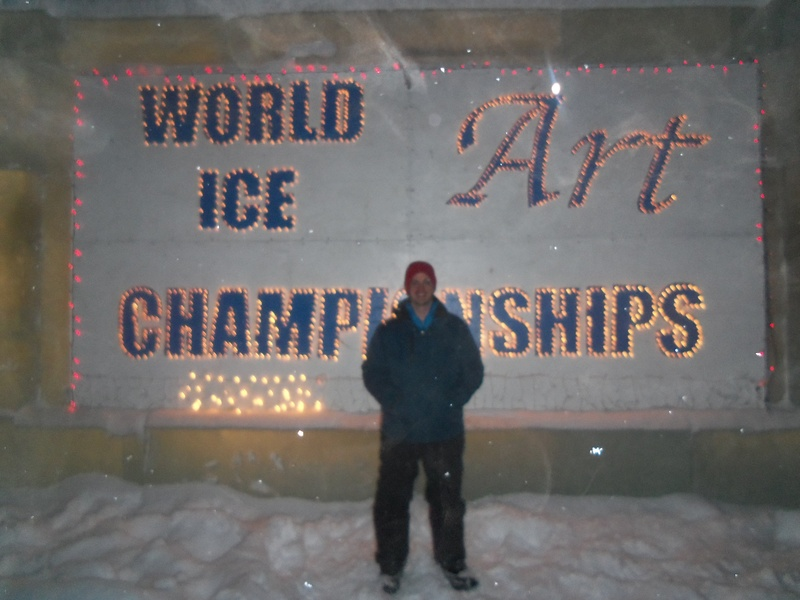 World ice art championship wall