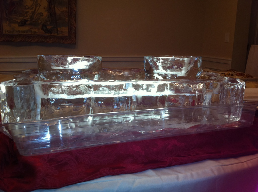Food Tray with ice bowls